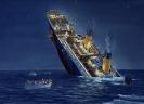 Titanic Der Untergang - Gouache 60 x 80 cm