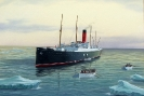 Titanic Rettung der Schiffbrüchigen durch Carpathia - Gouache 50 x 35 cm