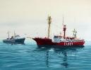 Elbe 1 - Gouache 40 x 30 cm